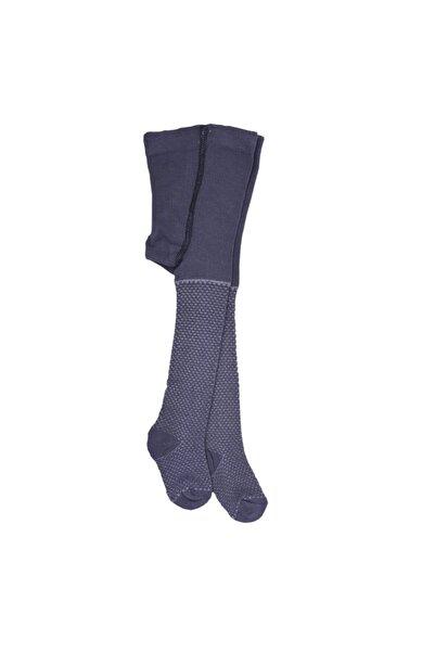 kitikate Organik Pirinç Kabartma Külotlu Çorap Füme Renk