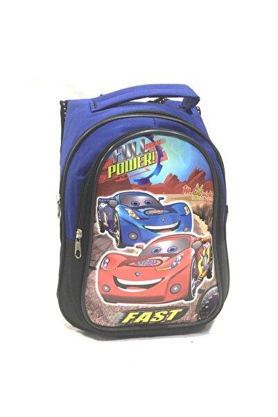 Class Erkek Çocuk Lacivert Arabalı Anaokulu Sırt Cantası