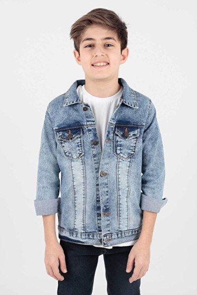 Ahenk Kids Erkek Çocuk Mavi Jean Ceket Ak888176