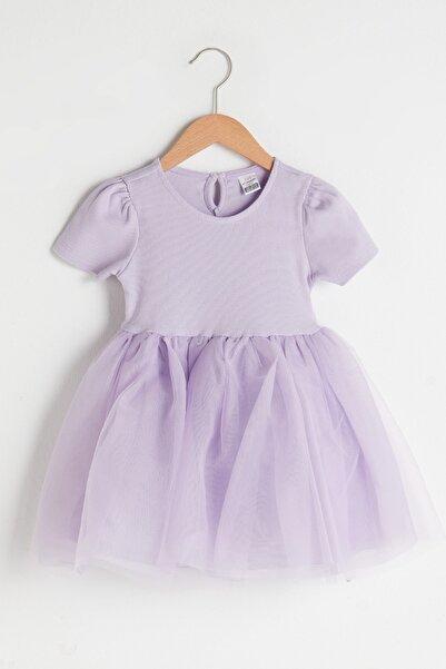 LC Waikiki Kız Bebek Lila G0W Elbise