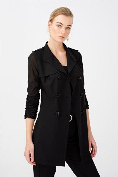 Ekol Kadın Siyah Ceket 6042