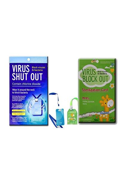 Twentysix26 -/ 1+1 Virüs Shut Out 30 Gün + Virüs Block Out Yeşil Zürafalı Kids 60 Gün Yaka Kartı