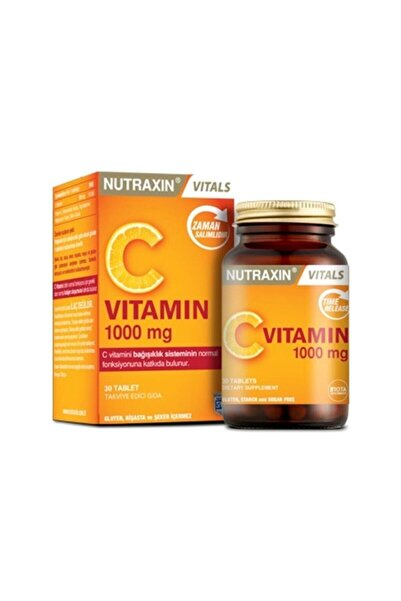Nutraxin Vitamin C 1000 mg Takviye Edici Gıda 30 Tablet