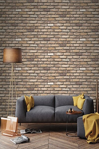 EXCLUSIVE 9030 Taş Tuğla Desen 2021 Model Duvar Kağıdı 5,33 M²