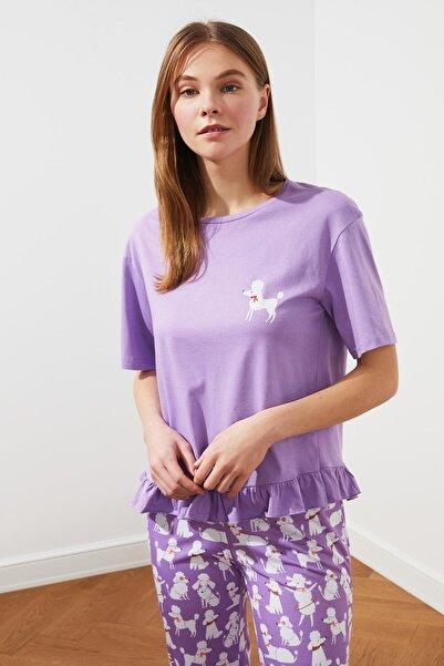 TRENDYOLMİLLA Mor Örme Pijama Takımı THMSS21PT0220