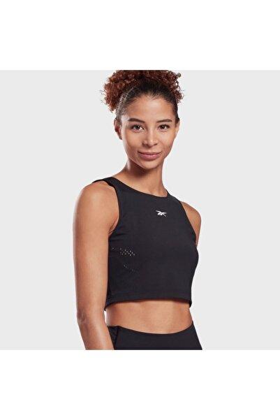 Reebok Gl2605 Perform Perforated Crop Top Kadın Siyah T-Shirt