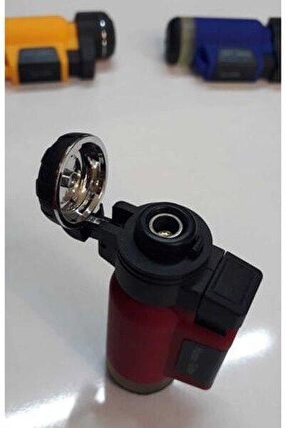 Kırmızı Turbo Tek Pürmüz Alev Pro Çakmağı