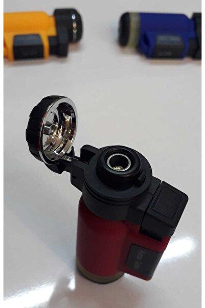 Hunter Kırmızı Turbo Tek Pürmüz Alev Pro Çakmağı