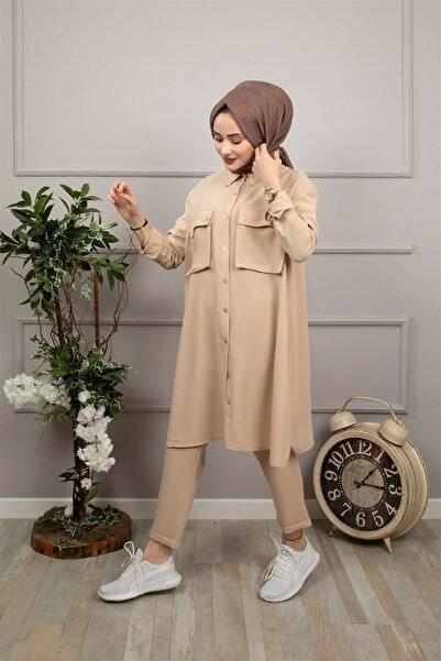 lamelif store Bej Lamelif Takım 21134