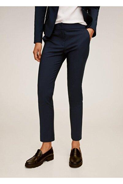 MANGO Woman Kadın Lacivert Dar Kesim Takım Pantolonu 77082888