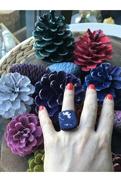 Lotus Özel Tasarım Saks Rengi Yüzük