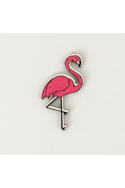 PALTO TASARIM Flamingo Resimli Ahşap Magnet