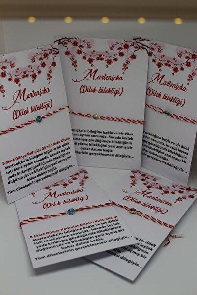 pijamaaskim 8 Mart Dünya Kadınlar Günü /nazar Boncuklu Marteniçka Bileklik - Dilek Bilekliği - Şans Bilekliği