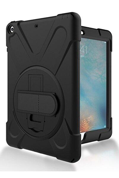 """MOBAX Apple Ipad 8. Nesil 10.2"""" Defender Standlı Askılı Tank Case Siyah Kılıf  A2270 A2428 A2429 A2430"""