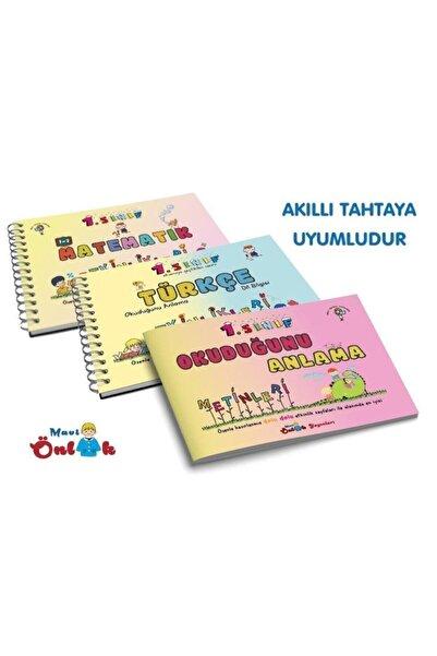 Beyaz Pusula Mavi Önlük Yayınları 1.sınıf Türkçe Matematik Okuduğunu Anlama Etkinlikleri 3.kitap