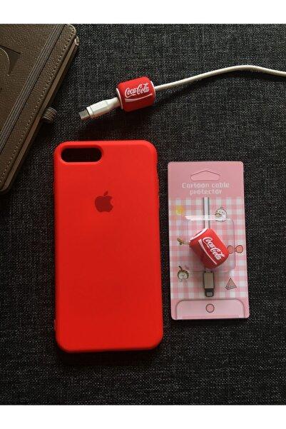 SUPPO Iphone 7/8 Plus Uyumlu Lansman Kılıf+kablo Koruyucu