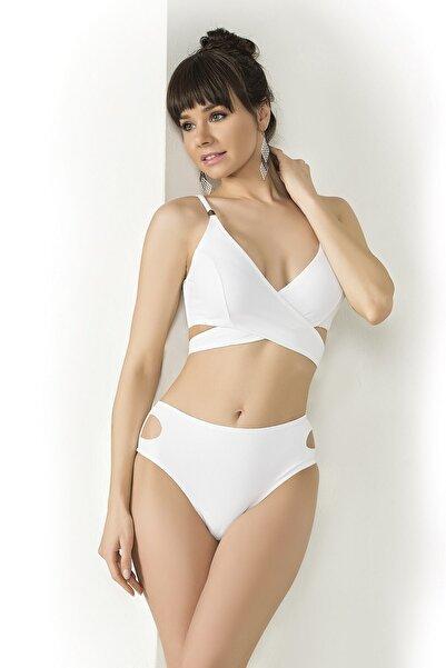Endeep Kadın Beyaz Çapraz Model Bikini Takımı