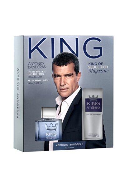 Antonio  Banderas King of Seduction Edt 100 ml + Tıraş Sonrası Balsam 100  ml Erkek Parfüm Seti 8411061807699