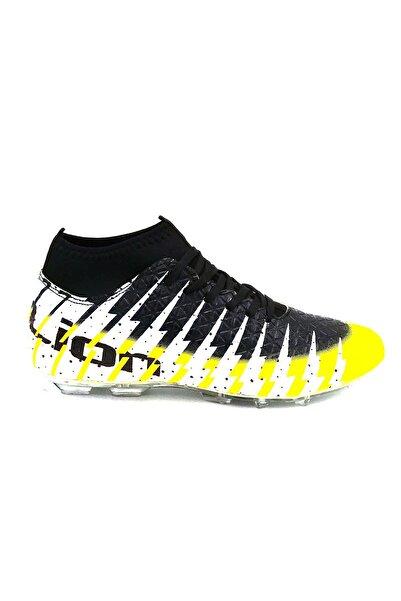 modastar Lion 1453 Erkek Sarı Siyah Çoraplı Futbol Krampon Ayakkabı