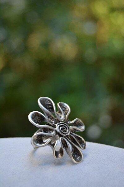 Stoneage Kadın Çiçek Figür Kadın Ayarlanabilir Yüzük Big Daisy Model Türk Malı Üretim