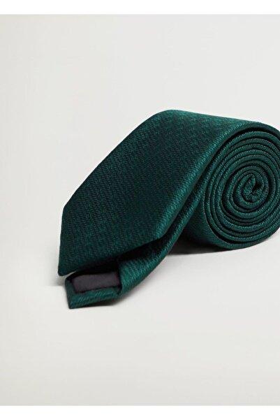 MANGO Man Erkek Yeşil Geometrik Baskılı Kravat