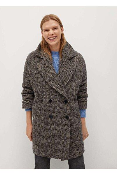 MANGO Woman Kadın Gri Palto
