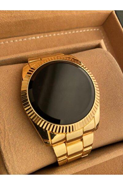 Gold Time Gold Renk Çelik Kordon Dokunmatik Ekran Erkek Saati