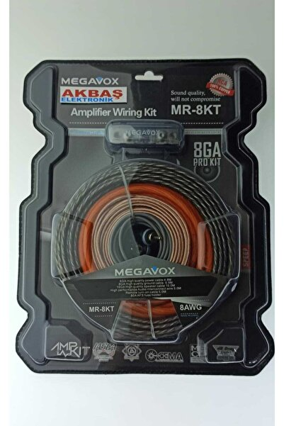 megavox 8 Ga Kalın Kaliteli Profesyonel Full + Full Anfi Set Kablo