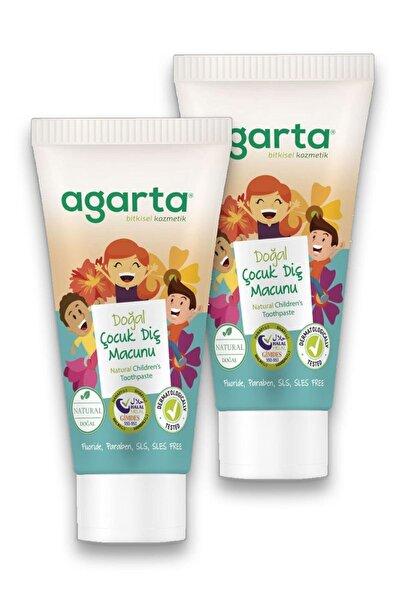 Agarta 2 Adet Doğal Çocuk Diş Macunu 75 ml (% 100 Katkısız-doğal)