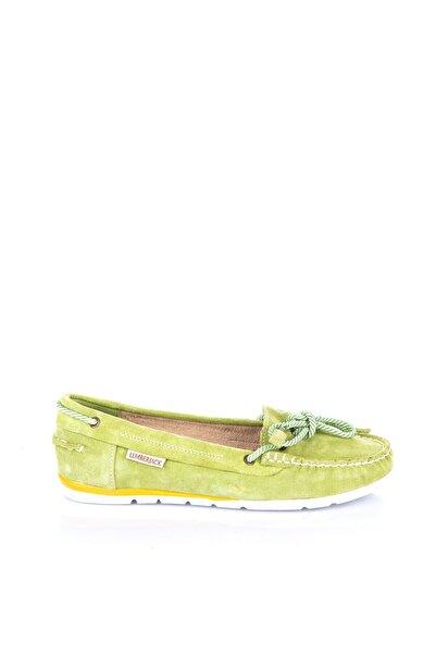 lumberjack Hakiki Deri Yeşil Kadın Ayakkabı 100166428
