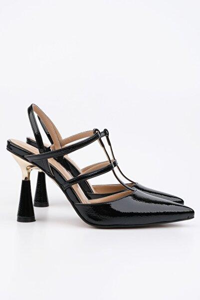 Marjin Nariya Kadın Topuklu Ayakkabısiyah Rugan