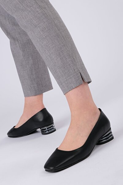 Marjin Vensil Kadın Klasik Topuklu Ayakkabısiyah