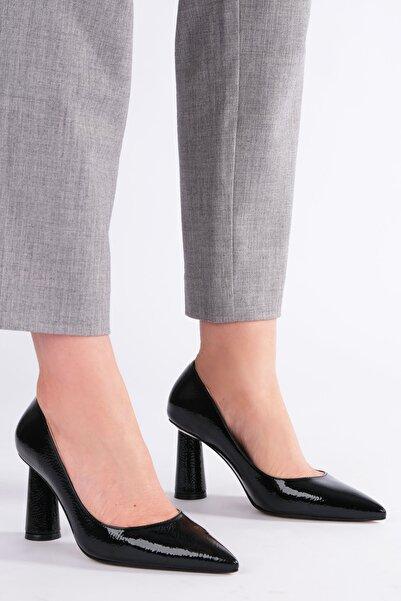 Marjin Odela Kadın Stiletto Topuklu Ayakkabısiyah Rugan