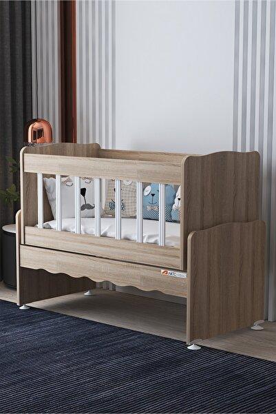 Aktehome Baby Sallanır Anne Yanı Ahşap Bebek Beşiği 100x50 Cm