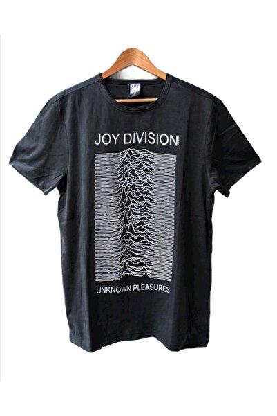 Kayrakarakutu Unisex Gri Joy Dıvısıon Yıkamalı Rock T-shirt