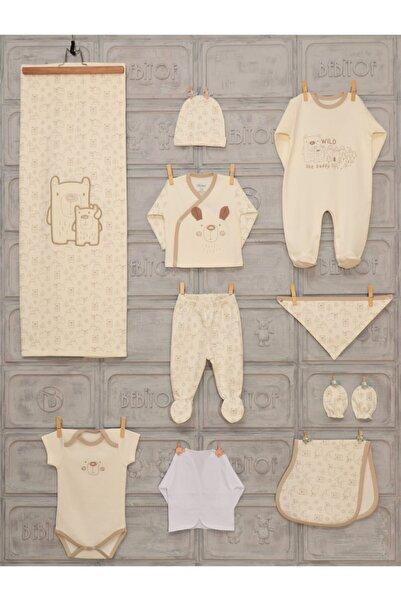 Bebitof Erkek Bebek 0-3 Ay Anne Ayıcık 10 Lu Hastane Çıkışı Tulumlu Model