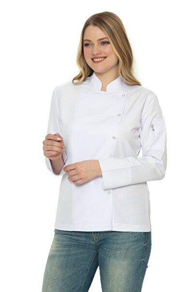 sentilyon Kadın Beyaz Aşçı & Şef Ceketi (katlamalı Kol)