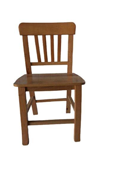 Doğal Kahverengi Gürgen Orta Boy Ahşap Sandalye