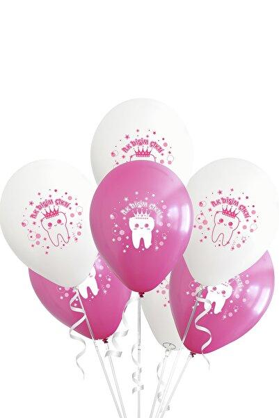 Partijet Diş Buğdayı Temalı Pembe Lateks Balon 10'lu