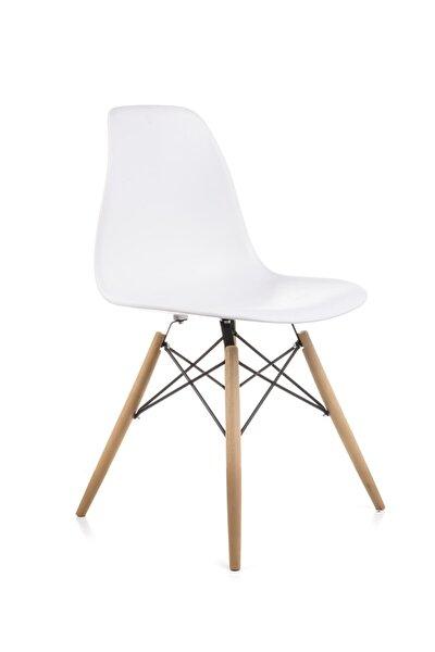 Dorcia Home Mona Beyaz Sandalye - Cafe Balkon Mutfak Sandalyesi