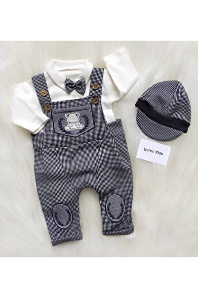 Beren Kids Papyonlu Şapkalı Bebek Slopet Takımı