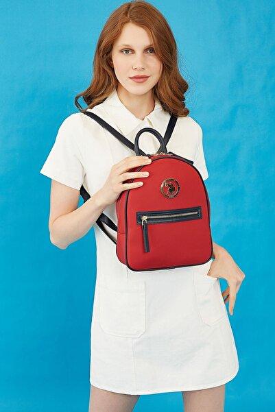 U.S. Polo Assn. Kadın Kırmızı Sırt Çantası Us8711