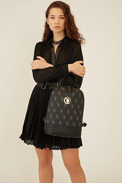 U.S. Polo Assn. Kadın Siyah Sırt Çantası Us8705