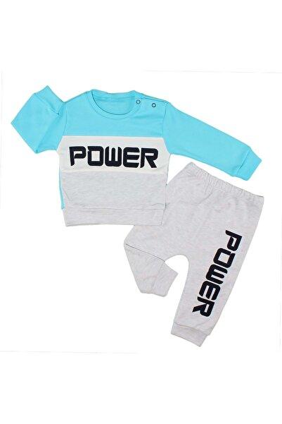 Babyboy Power Baskılı Erkek Bebek 2li Pijama Takımı