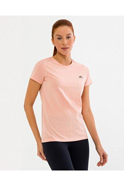 SKECHERS Graphic Tee's W OLK Basic Crew Neck T-Shirt Kadın Pembe Tshirt