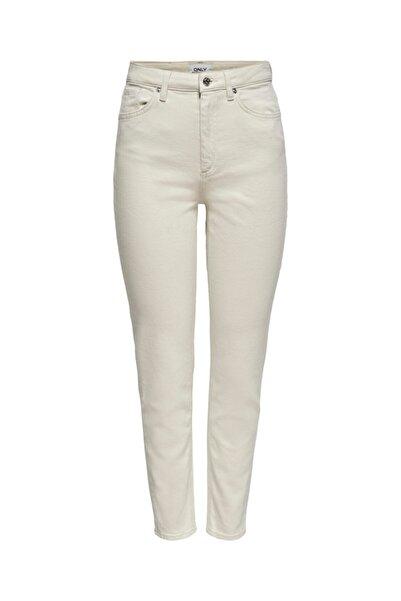 Only Kadın Ekru Mom Jeans  152285541