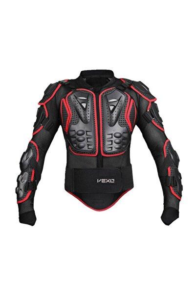 Vexo Kırmızı Full Koruma Fileli Yazlık Cross Giysi