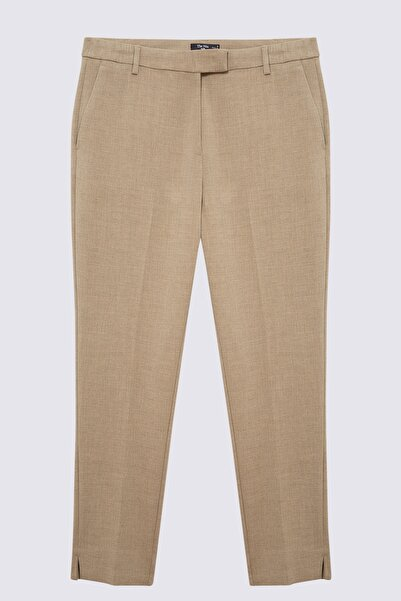Marks & Spencer Kadın Kahverengi Slim Pantolon T59005762