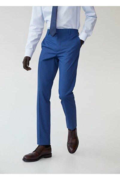 MANGO Man Dar Kesim Kareli Takım Pantolon