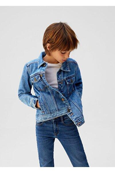 MANGO Kids Erkek Çocuk Lacivert Pamuklu Kot Ceket
